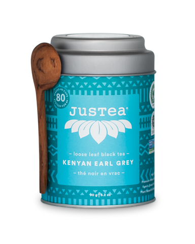 JUSTEA BEVERAGES INC KENYAN EARL GREY LOOSE LEAF, 100G