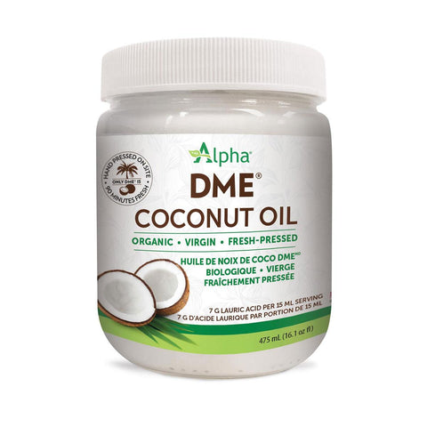 ALPHA HEALTH PRODUCTS COCONUT OIL DME ORGANIC, 475ML