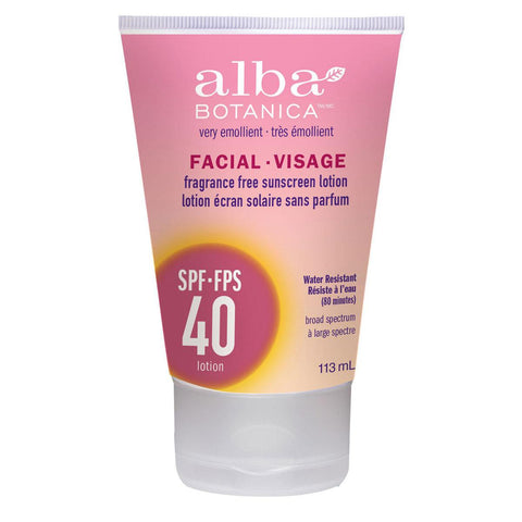 Alba Botanica SPF40 Facial Sunscreen