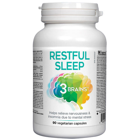 3 Brains Restful Sleep - 90 Vegetarian Capsules