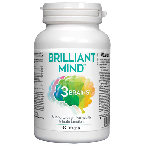 3 Brains Brilliant Mind - 90 Soft Gels