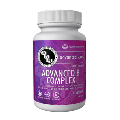 AOR B Complex Advanced (602 mg / 180 Vegetable Capsules)