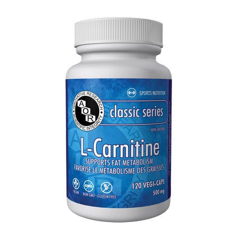 AOR L-Carnitine (500 mg / 120 Vegetable Capsules)