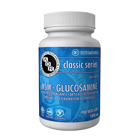 AOR MSM + Glucosamine (1000 mg / 100 Vegetable Capsules)