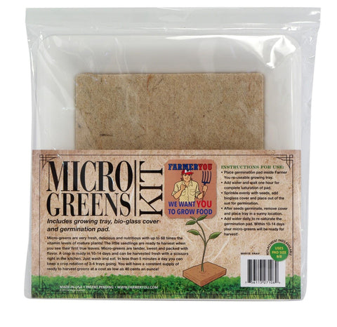 FARMER YOU MICRO GREENS KIT WHITE