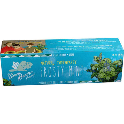 Green Beaver Natural Toothpaste (Frosty Mint) - 75ml - Homegrown Foods, Stony Plain