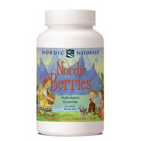 Nordic Naturals Nordic Berries - 120 Gummy Bears - Homegrown Foods, Stony Plain
