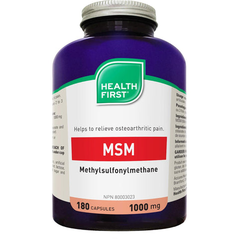 Health First MSM, 1000mg - Homegrown Foods, Stony Plain