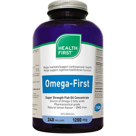 Health First Omega First Fish Oil, 1200mg, 240 Gel Caps