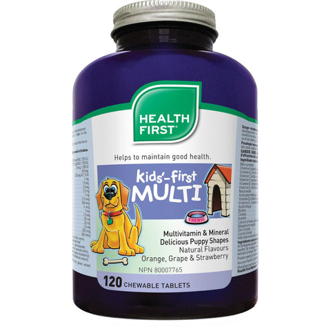 Health First Kid's First Multi - 120 Chewable Tabs - Homegrown Foods, Stony Plain
