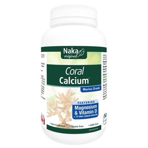Naka Organic Coral Calcium - 180 Caps - Homegrown Foods, Stony Plain
