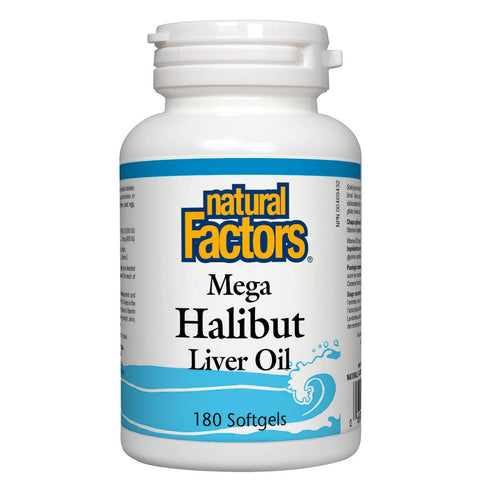 Natural Factors Mega Halibut Liver Oil - 180 Softgels - Homegrown Foods, Stony Plain