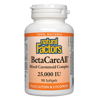 Natural Factors BetaCareAll, 25,000IU - 90 Softgels - Homegrown Foods, Stony Plain
