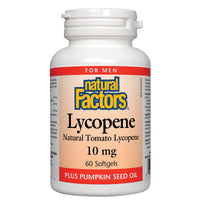Natural Factors Lycopene, 10mg, 60 Softgels with Pumpkin Seed Oil