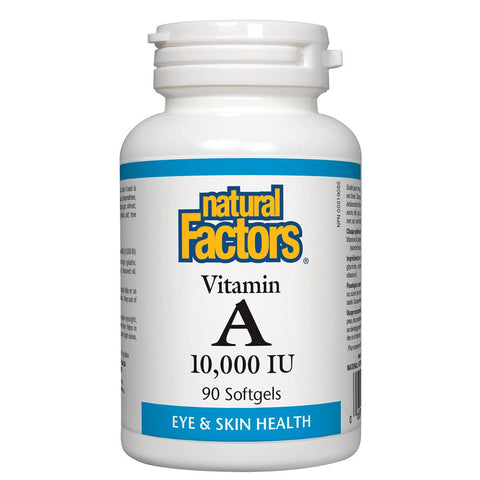 Natural Factors Vitamin A 10,000 IU 90 Softgels - Homegrown Foods, Stony Plain
