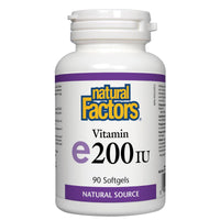 Natural Factors Vitamin E200IU (Natural Source), 90 Softgels