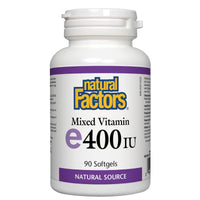 Natural Factors E400IU Mixed Vitamin, 90 Softgels