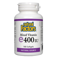 Natural Factors Mixed Vitamin E400IU, 180 Softgels