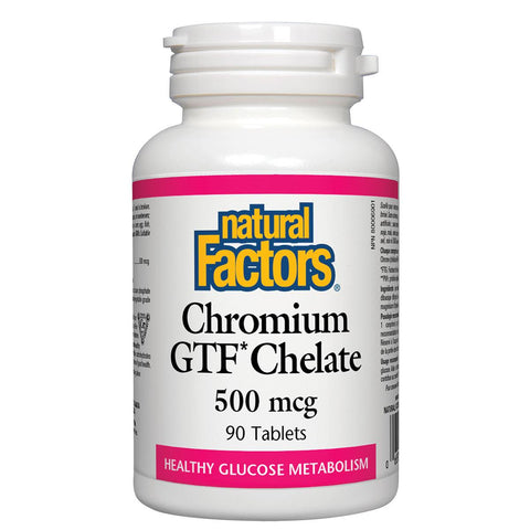 Natural Factors Chromium GTF Chelate, 500mcg / 90 Tabs