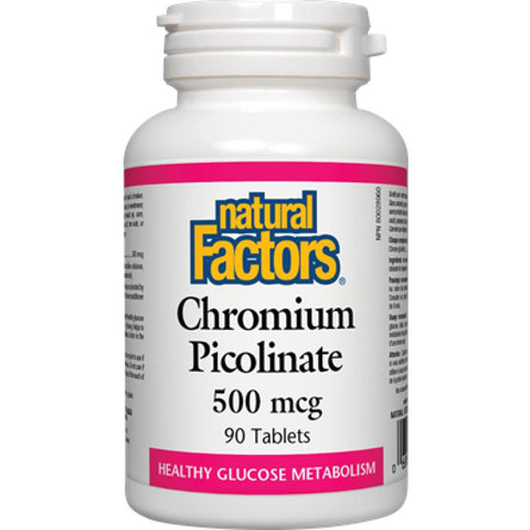 Natural Factors Chromium Picolinate, 250mcg / 90Tabs