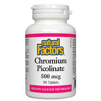 Natural Factors Chromium Picolinate, 500mcg / 90 Tabs