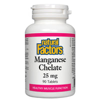 Natural Factors Manganese Chelate, 25mg / 90 Tabs
