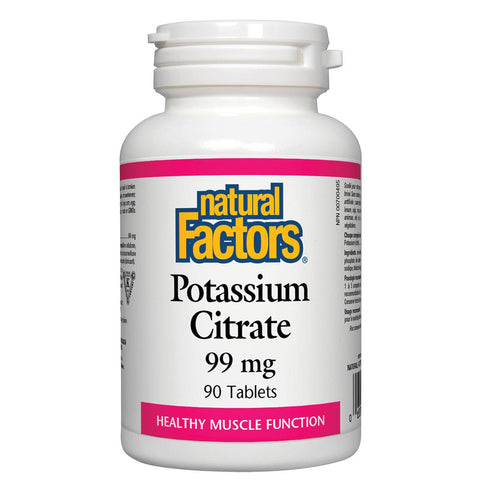 Natural Factors Potassium Citrate, 99mg - 90 Tabs - Homegrown Foods, Stony Plain