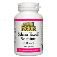 Natural Factors Seleno Excell Selenium, 200mcg - 90 Caps - Homegrown Foods, Stony Plain