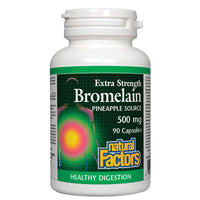 Natural Factors - Bromelain, 500mg (extra strength) - 90 Caps - Homegrown Foods, Stony Plain