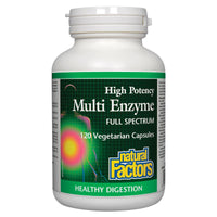 Natural Factors High Potency Multi Enzyme, Full Spectrum, 120 Vcaps