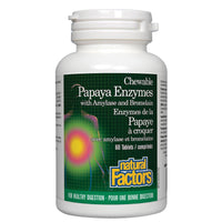 Natural Factors Papaya Enzymes, 60 Chewable Tablets