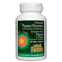 Natural Factors Papaya Enzymes - 120 Chewable Tabs - Homegrown Foods, Stony Plain