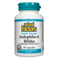 Natural Factors Acidophilus/Bifidus, 10 Billion / 90caps