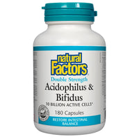Natural Factors Acidophilus/Bifidus, 10billion / 180caps