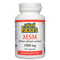Natural Factors MSM, 1000mg, 90 Caps - Joint Pain Relief & Health Benefits