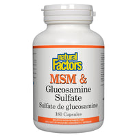 Natural Factors MSM & Glucosamine Sulfate, 180 Caps - Homegrown Foods, Stony Plain