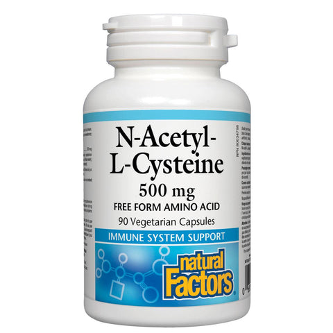 Natural Factors N-Acetyl-L-Cysteine (NAC), 500mg, 90 Vcaps