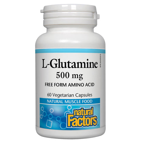 Natural Factors L-Glutamine, 500mg - 60VCaps - Homegrown Foods, Stony Plain