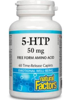 Natural Factors 5-HTP, 50mg, 60 time release caplets