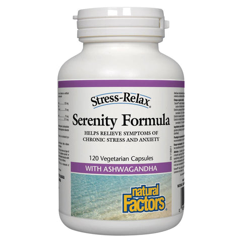 Natural Factors Serenity Formula with Ashwagandha, 120 Vegetarian Caps