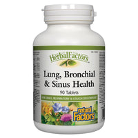 Natural Factors Lung, Bronchial & Sinus Health, 90 Tabs