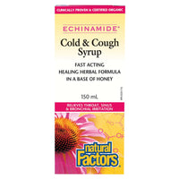Natural Factors Echinamide Anti-Cold Cold & Cough Syrup, Organic - 150ml - Homegrown Foods, Stony Plain