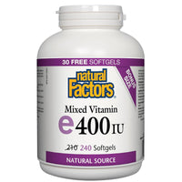Vitamin E Mixed 400IU, 240 Softgels/Bonus 30