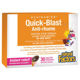Natural Factors Quick Blast Anti-Rhume - 30 Liquid Gel Softchews - Homegrown Foods, Stony Plain