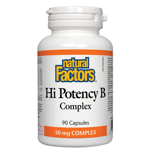 Natural Factors Hi Potency B Complex, 50mg, 90 Caps