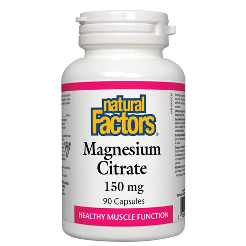 Natural Factors Magnesium Citrate 150mg 90 Caps - Homegrown Foods, Stony Plain