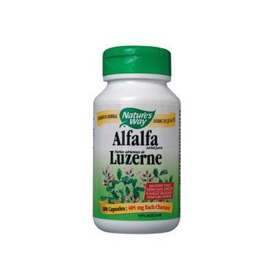 Nature's Way Alfalfa Aerial Parts, 405mg - 100 Caps - Homegrown Foods, Stony Plain