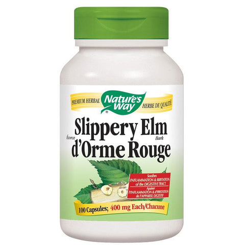 Nature's Way Slippery Elm Bark, 370mg - 100 Caps - Homegrown Foods, Stony Plain
