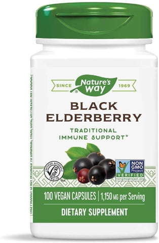 Nature's Way Elderberry, 575mg - 100 Caps - Homegrown Foods, Stony Plain