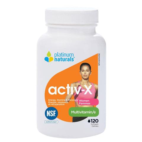 Platinum Naturals Activ-X For Women - 120 Softgels - Homegrown Foods, Stony Plain